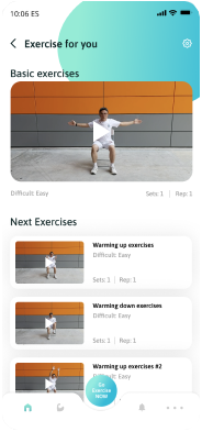 Customized ExerciseTo suit individual fitness level